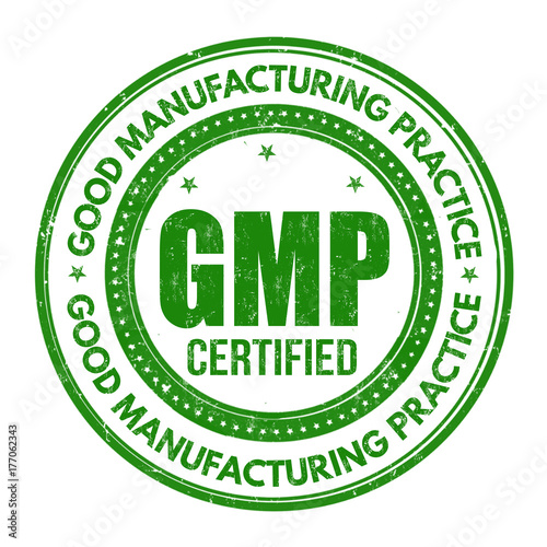Photo Good Manufacturing Practice ( GMP ) sign or stamp