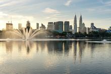 Kuala Lumpur Skyline And Fount...