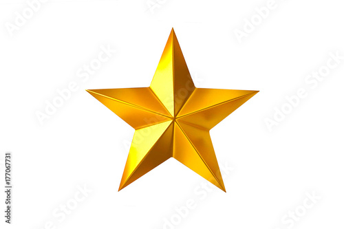 Obraz gold star isolated on white background. - fototapety do salonu
