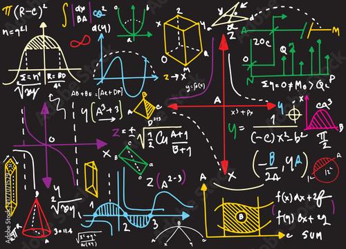 Photo Physical formulas and phenomenon. hand-drawn illustration. scien