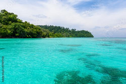 Fototapeta Beautiful sea view of Koh Rok, Krabi Thailand obraz