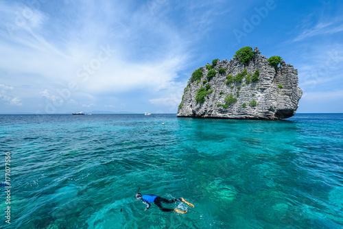 Fototapeta Beautiful seaview of Koh Rok, Krabi Thailand obraz