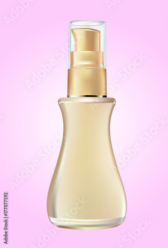 Fotografía  cosmetic products  bottle on pink background.