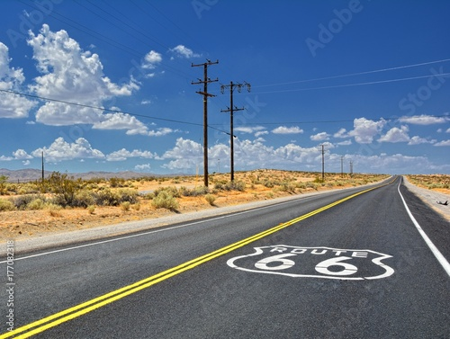 Spoed Foto op Canvas Route 66 U.S. Route 66 highway.