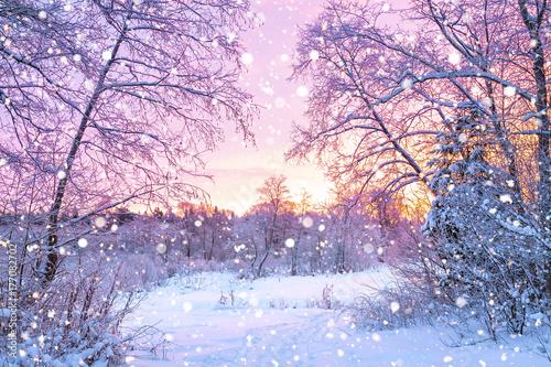 zimowy-wieczor-krajobraz-z-zachodem-slonca-w-lesie