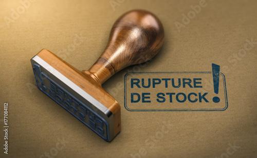 Photo Produit en Rupture de Stock, Gestion des Probèmes d'Approvisionnement De Marchan