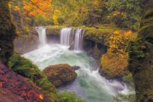 Spirit Falls In Fall Colors