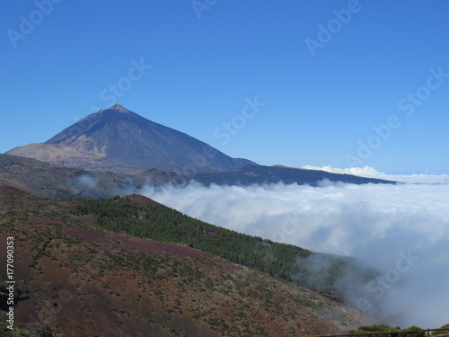 Plakat Góra. Wulkan Teide na Teneryfie. Wyspy Kanaryjskie. (Rozległa Rosja, Siergiej, Briańsk)