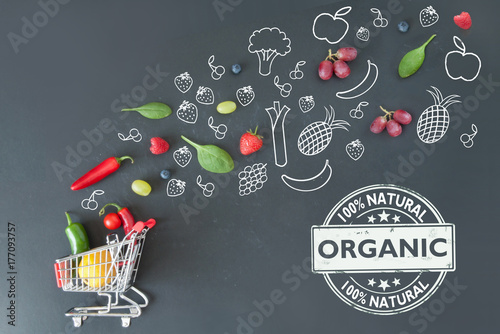 Fotografiet  Organic groceries