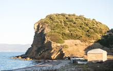 Bucht Am Mittelmeer Mit Kleine...
