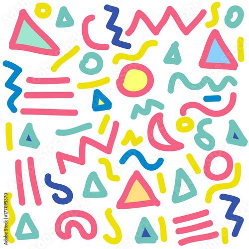 Fotografía  doodle seamless pattern in memphis style