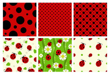 Ladybug Patterns Set.