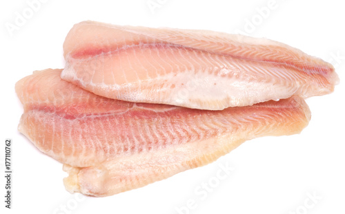Photo sur Aluminium Poisson raw fish fillet