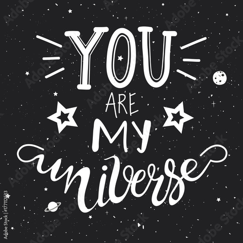 Obraz na plátně  You are my Universe