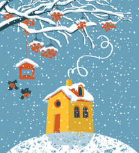 Vector Winter Landscape With S...