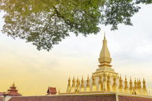 That Luang Stupa, Landmark Of Vientiane, Lao PDR