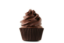 Chocolate Cupcake Isolated On ...