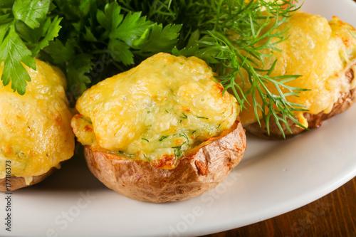 Plakat Pieczone ziemniaki z serem