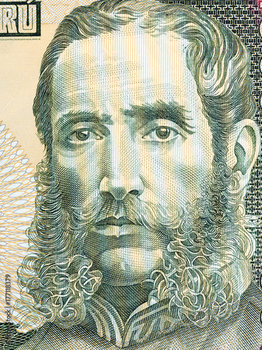 Andres Avelino Caceres portrait from Peruvian money Poster