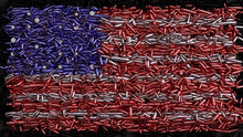 USA Flag Formed Out Of Bullets...