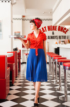 Pin Up Rockabilly Waitress Woe...