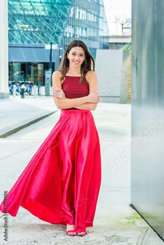 Fotografie, Tablou  Beautiful Street Fashion Girl