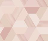 Geometria sześciokątny abstrakcyjny wzór bez szwu w beżowym / nago tematu z brokatem - 177138749