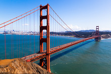 Golden Gate Bridge During A Sunny Day