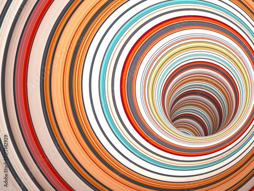 Obrazy wieloczęściowe abstrakcyjny kolorowy tunel 3d