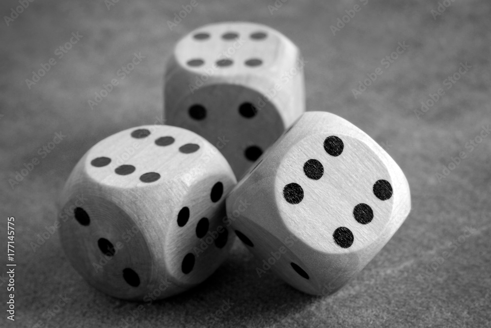 фотография  closeup of the dices on table