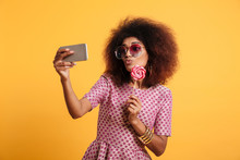 Portrait Of A Funny Young Afro American Woman