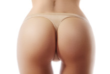 Beautiful Female Slim Body. Part Of Female Body. Woman's Shape With Clean Skin. Waist, Buttocks And Legs, Sexy Back.