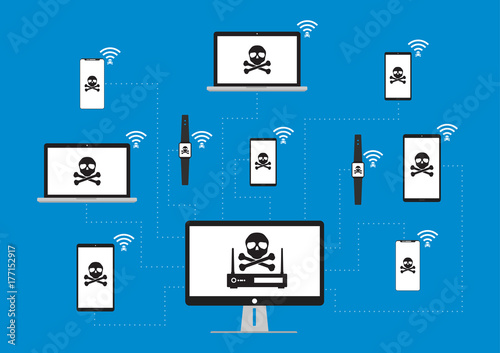 Hacker use KRACK method for steal important data from victim device