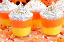 Halloween Candy Corn Puddings ...