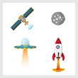 Space color vector icons
