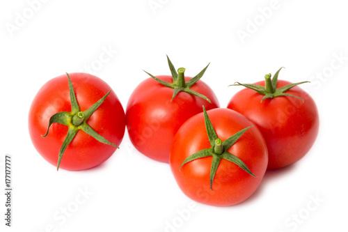 Leinwand Poster Tomaten freigestellt auf weißem Hintergrund