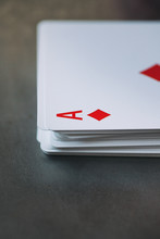 Cards: Stack Of Cards With Ace...