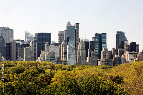 Tableau sur Toile A view of NYC skyline from central park