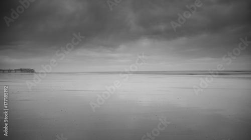 Obraz na płótnie Blackpool przyjemność plaża czarno-biała