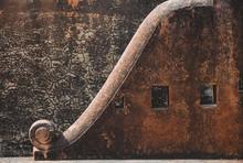 Ancient Stone Wall At Fort