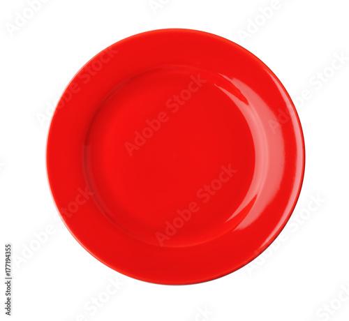 Photo  Ceramic plate on white background