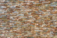 Stone Wall Stacked By Slate