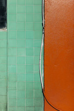 Colorfully Painted Wall Of Building Exterior
