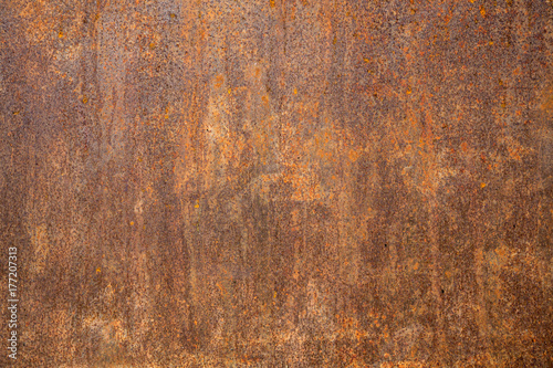 In de dag Metal Rusted steel as texture and background