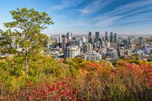 Montreal Skyline With Autumn Foliage From Mont Royal Kondiaronk Belvedere (2017)