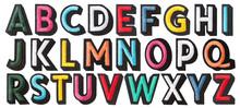 English Alphabet Of Stitched W...