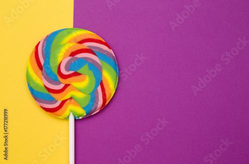 Fotografie, Obraz  Beautiful Rainbow Lollipop