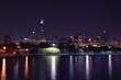Chicago night skyline, Usa.