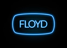 Floyd  - Colorful Neon Sign On...