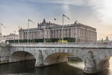 Riksdaghuset I Stockholm Sett ...